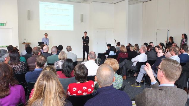 Nick Edgeworth and Peter Barwick present 	at the March 2014 CLWRota Training and Management Day